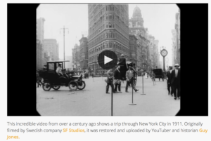 Video of 1911 new York